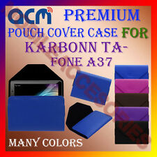 ACM-PREMIUM POUCH LEATHER CARRY CASE for KARBONN TA-FONE A37 TABLET TAB COVER