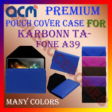 ACM-PREMIUM POUCH LEATHER CARRY CASE for KARBONN TA-FONE A39 TABLET TAB COVER