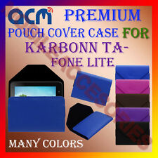 ACM-PREMIUM POUCH LEATHER CARRY CASE for KARBONN TA-FONE LITE TABLET TAB COVER