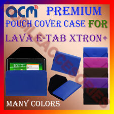 ACM-PREMIUM POUCH LEATHER CARRY CASE for LAVA E-TAB XTRON+ TABLET TAB COVER NEW