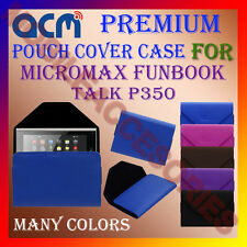 ACM-PREMIUM POUCH LEATHER CARRY CASE for MICROMAX FUNBOOK TALK P350 TABLET COVER