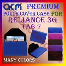 ACM-PREMIUM POUCH LEATHER CARRY CASE for RELIANCE 3G TAB 7 TABLET COVER HOLDER