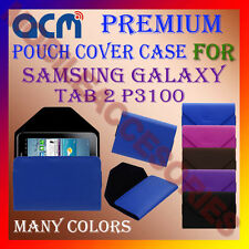 ACM-PREMIUM POUCH LEATHER CARRY CASE for SAMSUNG GALAXY TAB 2 P3100 TABLET COVER