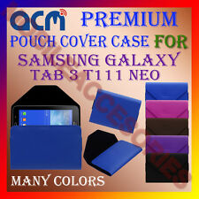 ACM-PREMIUM POUCH LEATHER CARRY CASE for SAMSUNG GALAXY TAB 3 T111 NEO TAB COVER