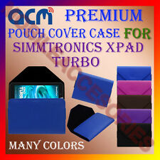 ACM-PREMIUM POUCH LEATHER CARRY CASE for SIMMTRONICS XPAD TURBO TABLET TAB COVER