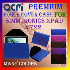 ACM-PREMIUM POUCH LEATHER CARRY CASE for SIMMTRONICS XPAD X722 TABLET TAB COVER
