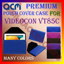 ACM-PREMIUM POUCH LEATHER CARRY CASE for VIDEOCON VT85C TABLET TAB COVER HOLDER