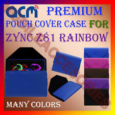 ACM-PREMIUM POUCH LEATHER CARRY CASE for ZYNC Z81 RAINBOW TABLET COVER HOLDER