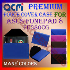 ACM-PREMIUM POUCH LEATHER CARRY CASE for ASUS FONEPAD 8 FE380CG TABLET TAB COVER