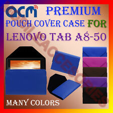 ACM-PREMIUM POUCH LEATHER CARRY CASE for LENOVO TAB A8-50 TABLET COVER HOLDER