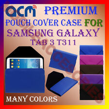 ACM-PREMIUM POUCH LEATHER CARRY CASE for SAMSUNG GALAXY TAB 3 T311 TABLET COVER