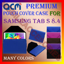 ACM-PREMIUM POUCH LEATHER CARRY CASE for SAMSUNG TAB S 8.4 TABLET COVER HOLDER