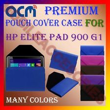 ACM-PREMIUM POUCH LEATHER CARRY CASE for HP ELITE PAD 900 G1 TABLET COVER HOLDER