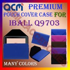 ACM-PREMIUM POUCH LEATHER CARRY CASE for IBALL Q9703 TABLET TAB COVER HOLDER NEW