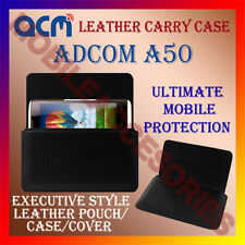 ACM-HORIZONTAL LEATHER CARRY CASE for ADCOM A50 MOBILE COVER HOLDER PROTECTION