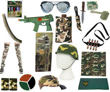 Military Army Accessories Camouflage Caps Paint Dagger Cigar Bullet Medals
