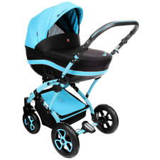 Baby Pram Pushchair Buggy Stroller, Car Seat, Luxury Travel System 2in1 - 3 in 1