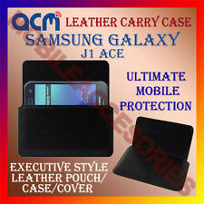 ACM-HORIZONTAL LEATHER CARRY CASE for SAMSUNG GALAXY J1 ACE MOBILE COVER HOLDER