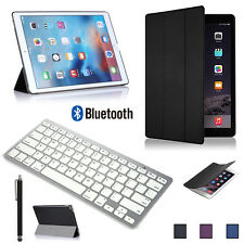 Wireless Bluetooth Keyboard with Sim Leather Case Cover for Apple iPad Pro