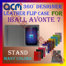 ACM-ROTATING 360° LEATHER FLIP STAND COVER CASE for IBALL AVONTE 7 TABLET TAB