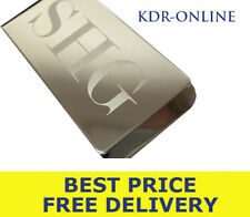 Personalised Custom Engraved Large Silver Plated Money Clip - Birthday Wedding