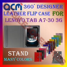 ACM-ROTATING 360° LEATHER FLIP STAND COVER CASE for LENOVO TAB A7-30 3G TABLET