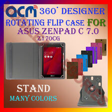 "ACM-DESIGNER ROTATING 360° 7"" COVER CASE STAND for ASUS ZENPAD C 7.0 Z170CG TAB"