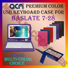 "ACM-USB COLOR KEYBOARD 7"" CASE for BASLATE 7-28 TABLET COVER STAND PROTECTION"