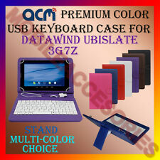 """ACM-USB COLOR KEYBOARD 7"""" CASE for DATAWIND UBISLATE 3G7Z TABLET COVER STAND NEW"""