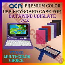 "ACM-USB COLOR KEYBOARD 7"" CASE for DATAWIND UBISLATE 7CZ TABLET COVER STAND NEW"