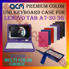 "ACM-USB COLOR KEYBOARD 7"" CASE for LENOVO TAB A7-30 3G TABLET TAB COVER STAND"