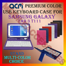 "ACM-USB COLOR KEYBOARD 7"" CASE for SAMSUNG GALAXY TAB 3 T111 TABLET COVER STAND"