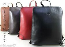 Ladies Womens Real Italian Leather Rucksack Backpack Shoulder Handbag Purse