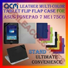ACM-LEATHER FLIP MULTI-COLOR COVER CASE STAND for ASUS FONEPAD 7 ME175CG TABLET