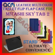 ACM-LEATHER FLIP MULTI-COLOR COVER CASE STAND for MITASHI SKY TAB 2 TABLET NEW