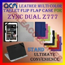 ACM-LEATHER FLIP MULTI-COLOR COVER CASE STAND for ZYNC DUAL Z777 TABLET TAB NEW