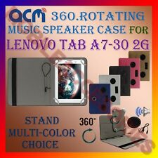 "ACM-PORTABLE MUSIC SPEAKER 360° ROTATING 7"" CASE for LENOVO TAB A7-30 2G TABLET"