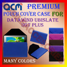 ACM-PREMIUM POUCH LEATHER CARRY CASE for DATAWIND UBISLATE 3G7 PLUS TABLET COVER