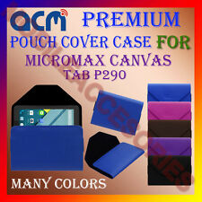 ACM-PREMIUM POUCH LEATHER CARRY CASE for MICROMAX CANVAS TAB P290 TABLET COVER