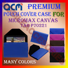 ACM-PREMIUM POUCH LEATHER CARRY CASE for MICROMAX CANVAS TAB P70221 TABLET COVER