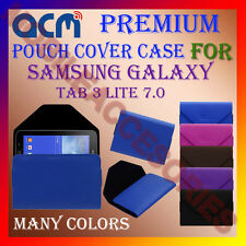 ACM-PREMIUM POUCH LEATHER CARRY CASE for SAMSUNG TAB 3 LITE 7.0 TABLET COVER NEW
