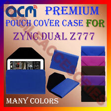 ACM-PREMIUM POUCH LEATHER CARRY CASE for ZYNC DUAL Z777 TABLET TAB COVER PROTECT