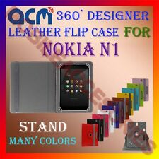 ACM-ROTATING 360° LEATHER FLIP STAND COVER CASE for NOKIA N1 TABLET TAB PROTECT