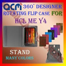 "ACM-DESIGNER ROTATING 360° 8"" COVER CASE STAND for HCL ME Y4 TABLET TAB PROTECT"