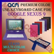 "ACM-USB COLOR KEYBOARD 9"" CASE for GOOGLE NEXUS 9 TABLET TAB COVER STAND HOLDER"