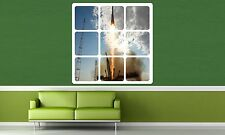 Colour Window View Rocket Launch Space Sticker Wall Poster Vinyl GA20-443