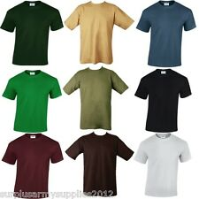 MENS PLAIN T-SHIRT LOOSE FIT 100% HEAVY COTTON GILDAN HIKING SPORTS CASUAL TOP