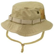 Khaki Military Boonie Hunting Army Fishing Bucket Jungle Cap Hat Hats S M L XL