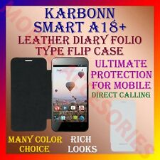 ACM-LEATHER DIARY FOLIO FLIP FLAP CASE for KARBONN SMART A18+ MOBILE FULL COVER