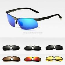 Men Boy UV 400 Polarized Multi-color Rimless Sunglasses Outdoor Driving Glasses